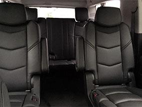 leather seats inside cadillac escalade