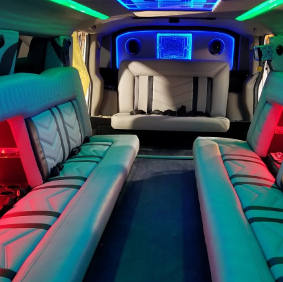 inside hummer limo view 2