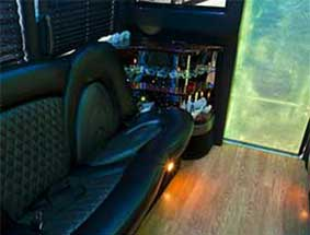 inside view of party bus limo #5