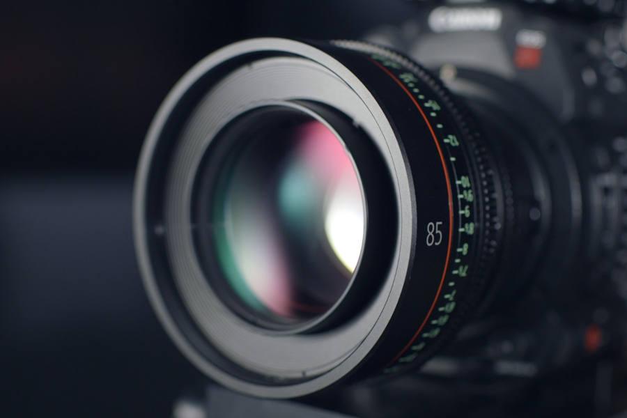close up of camera