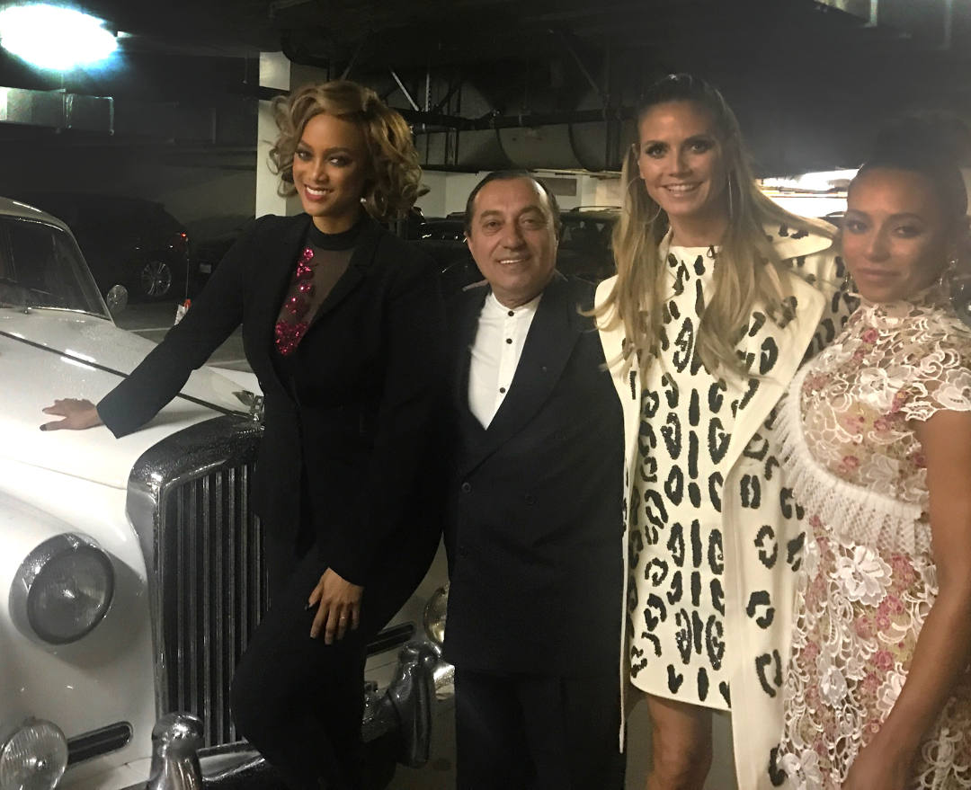 americas got talent judges attend awards show in rolls royce limo