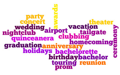 word graph of limo occasions